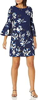Eliza J Women's Bell Sleeve Floral Dress