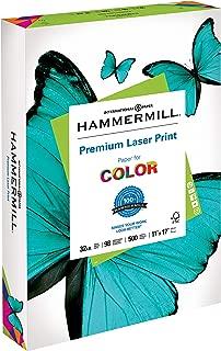 Hammermill Paper, Premium Laser Print Paper, 11 x 17 Paper, Ledger Size, 32lb Paper, 98 Bright, 1 Ream / 500 Sheets (104653R) Acid Free Paper
