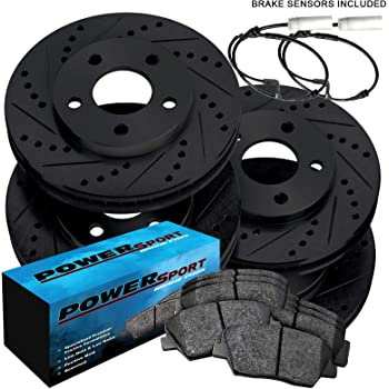 For BMW 228 328 F30 428 Front+Rear Drilled Slotted Brake Rotors /& Ceramic Pads