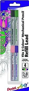 Pentel Arts 8 Colour Pencil Lead Refill (2.0mm) - Assorted Colors, 4-Pk (CH2BP4M2)