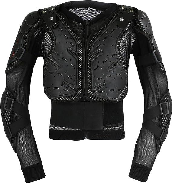 Leder24h Protektoren Jacke Herren Motorrad Protektorenhemd Biker Schutzkleidung Schutzjacke2090 2091 2095 In Schwarz Weiß Bekleidung