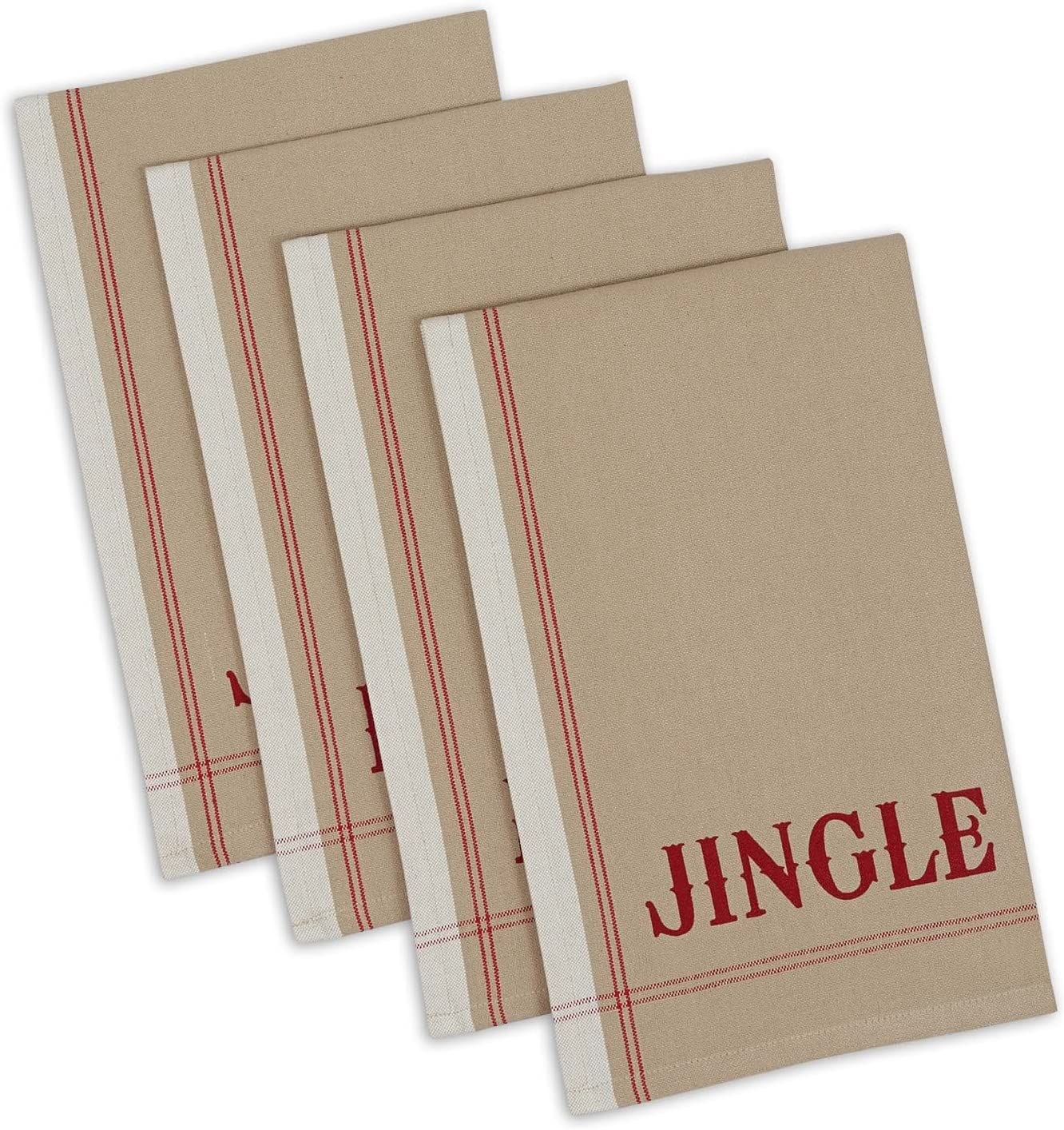 DII Holiday Collection Vintage Print Set 18x28 Words lowest price Dishtowel Low price