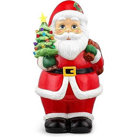 Ceramic Santa Claus with Bag Figurine Christmas 12 1118