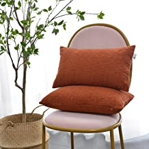 Kevin Textile Pack of 2, Bolster Mother's Day Pillow Covers Cases for Chair/Sofa/Bed/Car, Comfortable Corduroy Striped Bot...