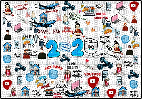 discount OPTIMISTIC online sale Puzzle for Adults 1000 Pieces -2020 discount Quarantine Themed Puzzles - DIY Puzzle Game Collection - 1000 Pieces Jigsaw Puzzle, 27x19In, Creative Holiday Decor to Memorialize This Difficult Year outlet online sale