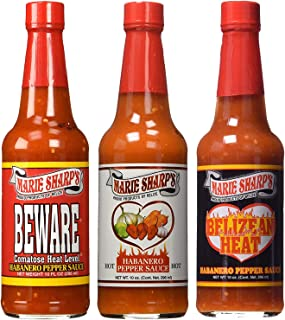 Marie Sharp's HOT HABANERO BEWARE COMATOSE and BELIZEAN HEAT Pepper Sauce 10oz