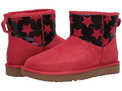 UGG Classic Mini Sequin Stars (Ribbon Red) Women