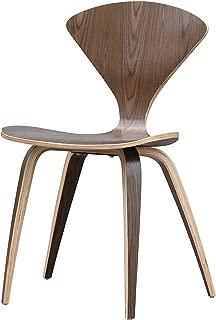 ModHaus Mid Century Modern Norman Cherner Style Molded Bent Plywood Chair - Walnut Finish