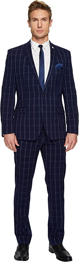 Nick Graham - Two-Button Tonal Plaid Suit