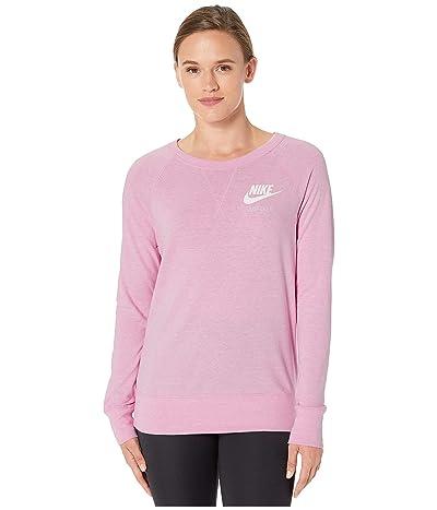 Nike Sportswear Gym Vintage Crew (Pink Rise/Sail) Women