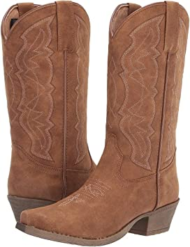 Old West Boots Womens Mattie J Toe Tan Canyon 7.5 B US