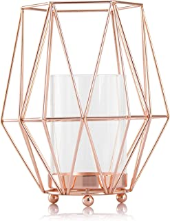 Skyera Candlestick Geometric Iron Tealight Candle Holders for Wedding Top Centerpiece, Home table Decor, Ideal for Halloween, Christmas, Weddings, Parties, Housewarming & Birthday Gift