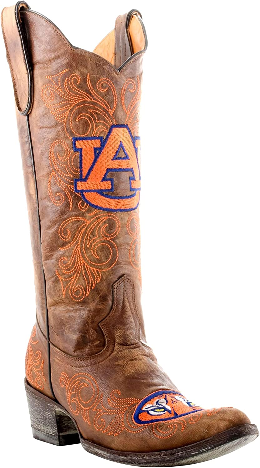 Gameday Boots Womens Ladies 13 Inch Auburn Gameday Boot 5 B (M) US  Brass AUBL001P