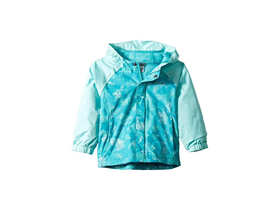 Columbia Kids Fast and Curioustm II Rain Jacket (Toddler) (Geyser Texture/Gulf Stream Invizza) Girl