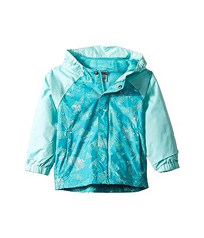 Columbia Kids Fast and Curioustm II Rain Jacket (Toddler) (Geyser Texture/Gulf Stream Invizza) Girl