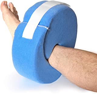 Leg and Foot Elevation Pillow with Adjustable Hook and Loop, Blue