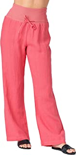 Best fold over wide leg linen pants Reviews