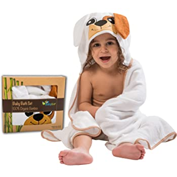 Petyoung Hooded Baby Towel,Ultra Absorbent Soft Comfortable Hooded Bath Towel with Bear Ears for baby,Toddler,Infant