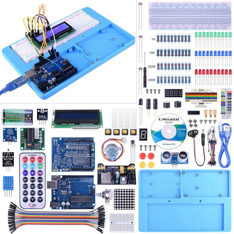 Kit Compatible con ArduiIDE, UNIROI Kit de Iniciación Completo con Tutorial para Principantes a Aprender Programación (UA005): Amazon.es: Electrónica