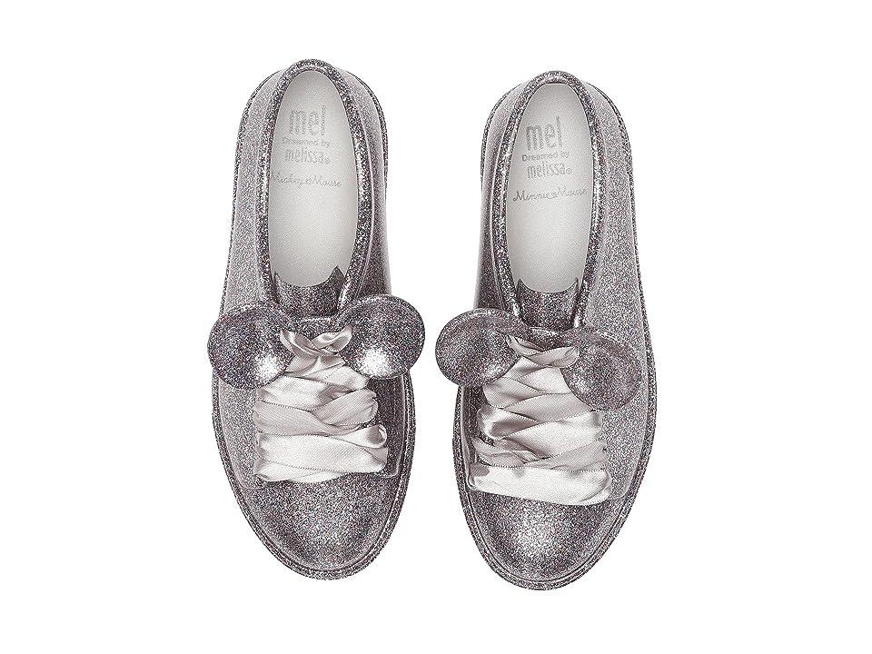Mini Melissa Mel Be + Disney (Little Kid/Big Kid) (Silver Glitter) Girl