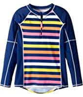 Toobydoo - Santa Monica Stripe Rashguard (Infant/Toddler/Little Kids/Big Kids)