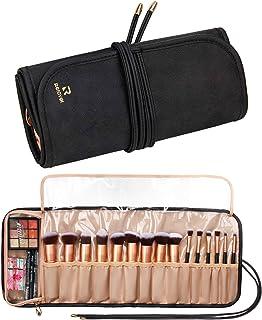 Samtour Makeup Brush Rolling Case Makeup Brush Bag Pouch Holder Cosmetic Bag Organizer Travel Portable Cosmetics Brushes B...
