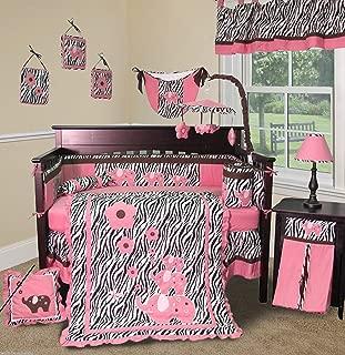 Pink Zebra 13 PCS Crib Nursery Bedding Set - by Sisi Baby Designs