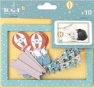 Toga naissance FPD157, - Leonard & Josephine Lot de 10 Cadres, Autre, Multicolore, 10 x 15 x 0.1 cm