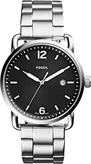 Fossil Men's The Commuter Analog Quartz/3 Hand Silver-Tone Watch, (FS5391)