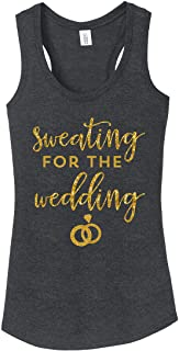 Sweating for the Wedding womens Tank Top Bride Shirt Plus size available