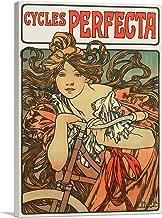 ARTCANVAS Cycles Perfecta 1902 Canvas Art Print by Alphonse Mucha - 40