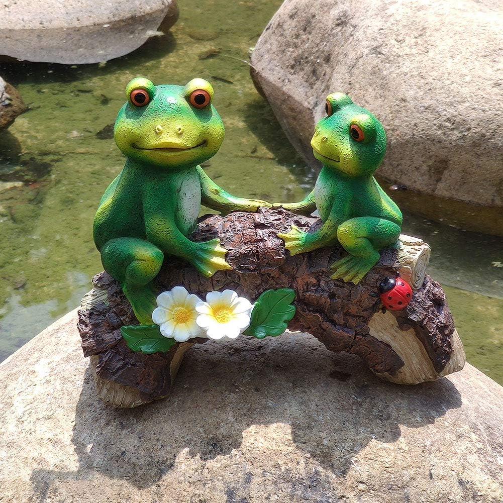 MARYTUMM Double Frog Ranking OFFicial shop TOP10 on Bridge Garden Statue Decor Scul Outdoor
