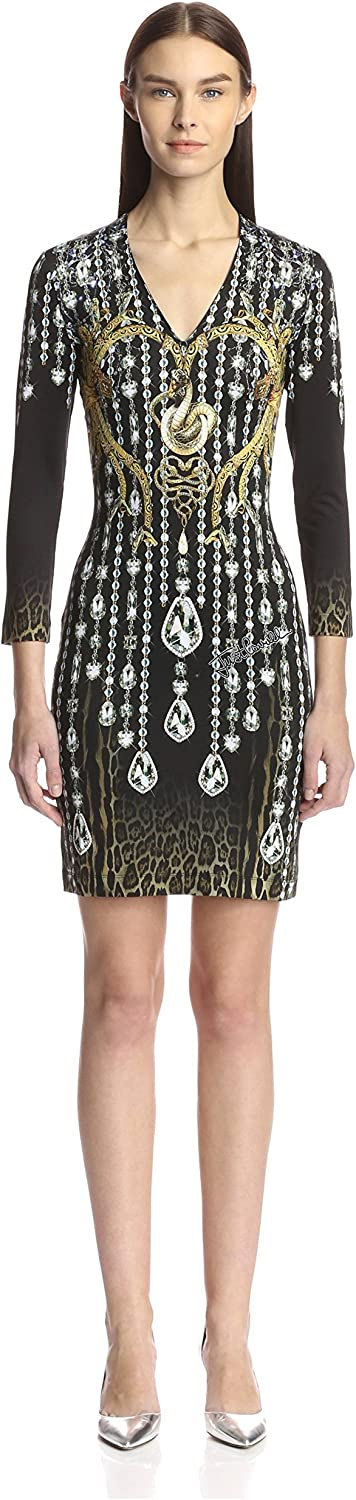 Just Cavalli Women's Bodycon Printed Knit Dress