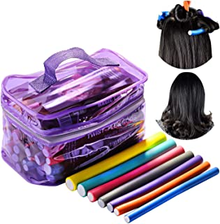 42 Pcs Hair Rollers Curlers, Beautyshow Sponge Hair Curler Flexible Curling Rods Pearl Cotton Curling Bar No Heat Sleeping...