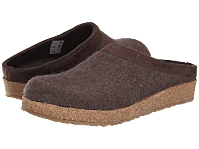 Haflinger GZL Leather Trim Grizzly (Brown) Clog Shoes