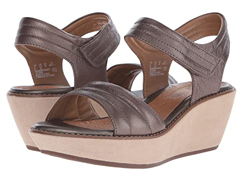 Womens Sandals Clarks Hazelle Alba Pewter Leather