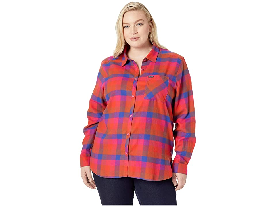Columbia Plus Size Simply Puttm II Flannel Shirt (Cactus Pink Check) Women
