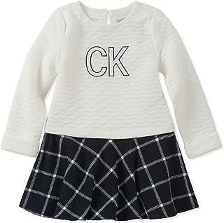 Calvin Klein Baby Girls Dress-Quilted