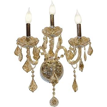 Worldwide Lighting Windsor Collection 2 Light Antique Bronze Finish /& Golden Teak Crystal Candle Wall Sconce 9 W x 10.5 H Medium
