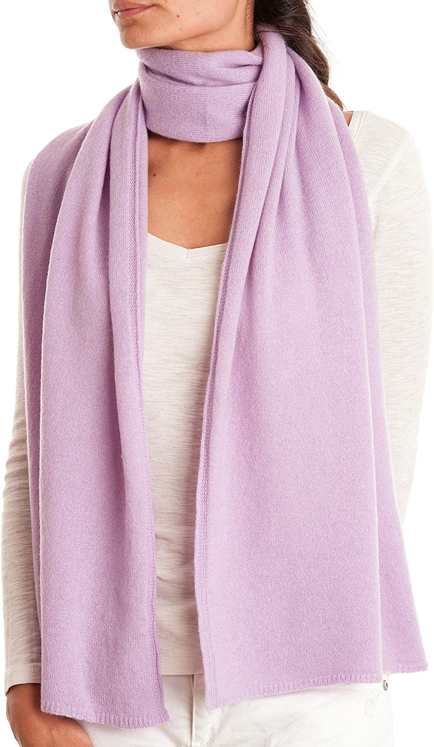 Dalle Piane Cashmere - Scarf 100% cashmere - Made in Italy - Woman/Man, Color: Lilac, One size