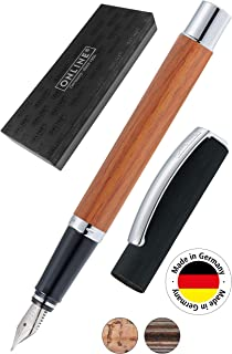 Hillento di alta qualit/à penna stilografica in legno legno cancelleria ufficio commerciale fornisce legno penna stilografica artigianale 0,7 millimetri legno nero
