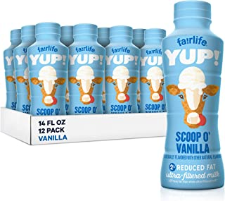 fairlife YUP! Low Fat, Ultra-Filtered Milk, Smooth Vanilla Flavor, All Natural Flavors (Packaging May Vary), 14 fl oz, 12 ...