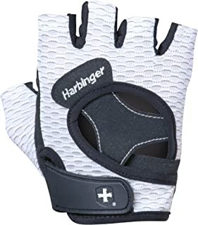 Harbinger Women's Flexfit Wash and Dry Weightlifting Gloves with Padded Leather Palm (Pair) (2017 Model)