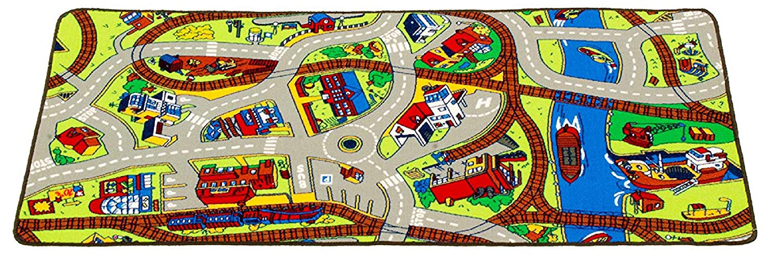 """Learning Carpets Ridethe TrainPlay Carpet –Themed Selling In stock rankings 36"""" 79"""" Ca by"""