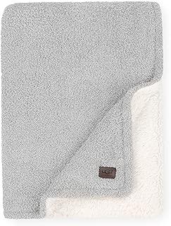 UGG Ana Fuzzy Eyelash Sweater + Sherpa Fleece - Reversible Throw Blanket, Seal