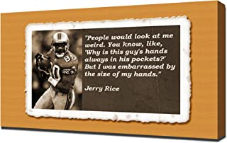 Jerry Rice Quotes 5 - Canvas Art Print