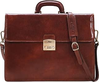 Floto Murano Combo Full Grain Leather Briefcase Attache