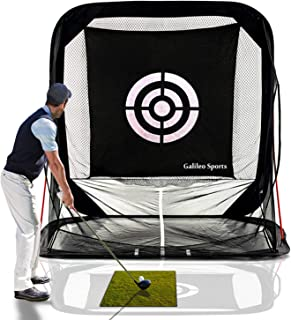 Galileo Golf Nets Golf Hitting Net Training Aid Driving Pop Up Automatic Ball Return for Backyard Driving with Target&Carry Bag