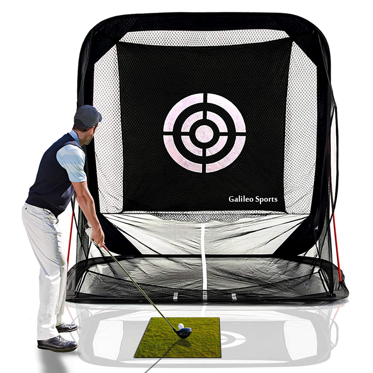 Galileo Golf Nets Golf Hitting Net Training Aid Driving Pop Up Automatic Ball Return for Backyard Driving with Target&Carry Bag vfpdzqvpi8606814