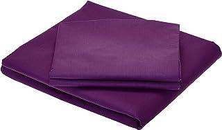 3 Piece BedSheet Set,King Size-11, Purple
